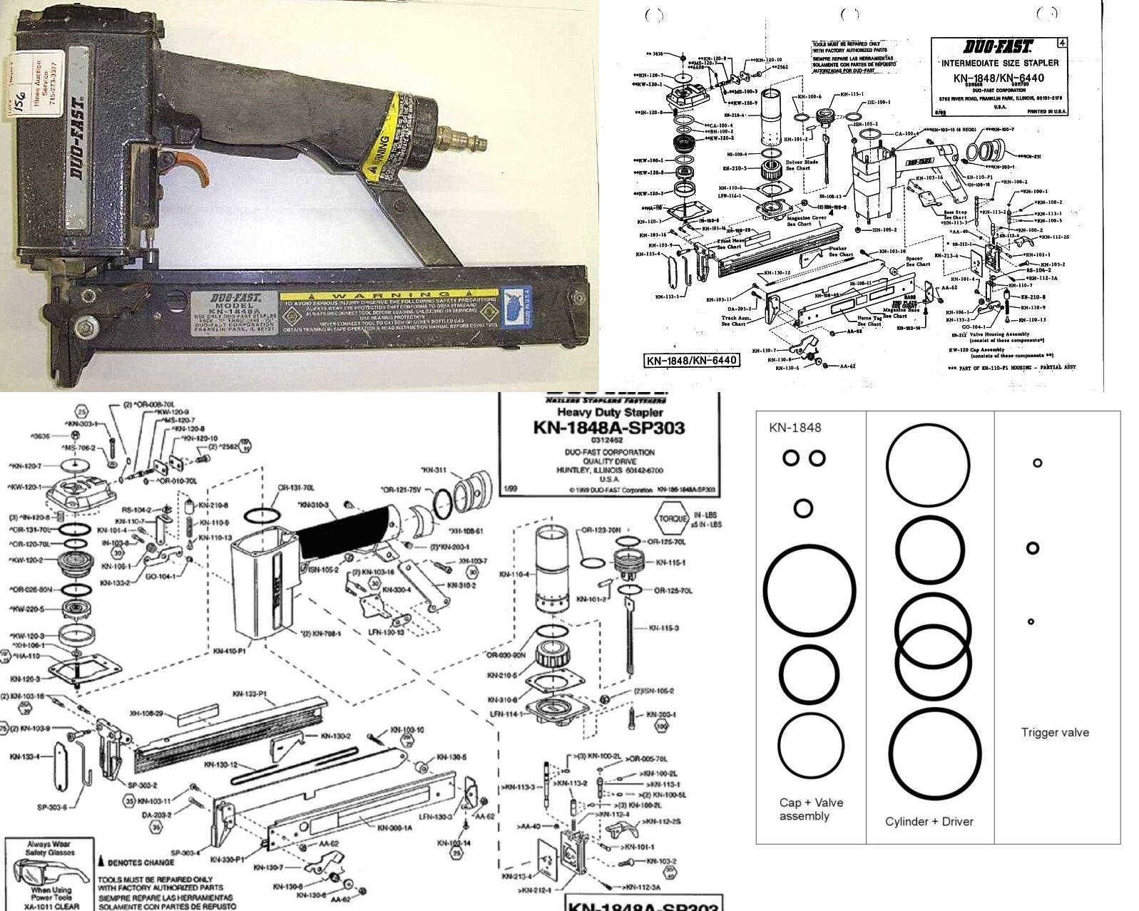 Duo-Fast KN-1848 O-ring Rebuild Kit