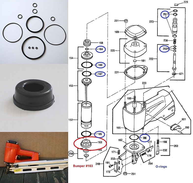 Hilti RN312 O-ring Kit + Bumper