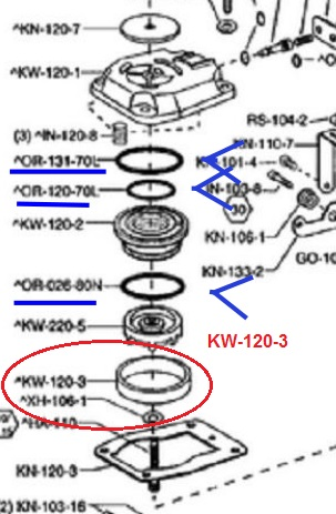 1 x KW-120-3 seal