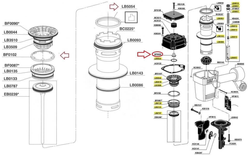 SN60 SN65 O-ring kit + LB5054 + BF0102 + BF0205