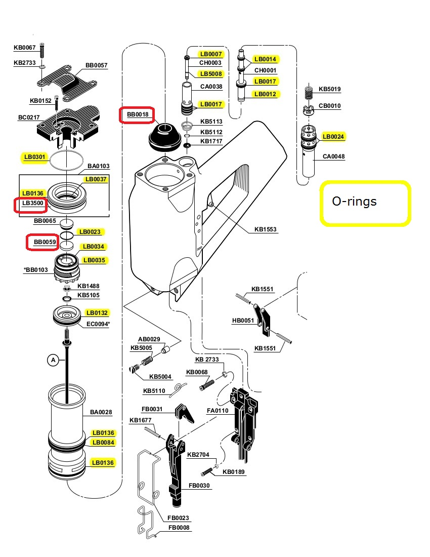 senco sn4 sn70 parts on ebay lb3500 washer firing valve