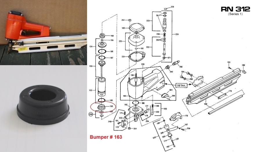 Hilti RN312 Piston Stop Bumper #163  6162163