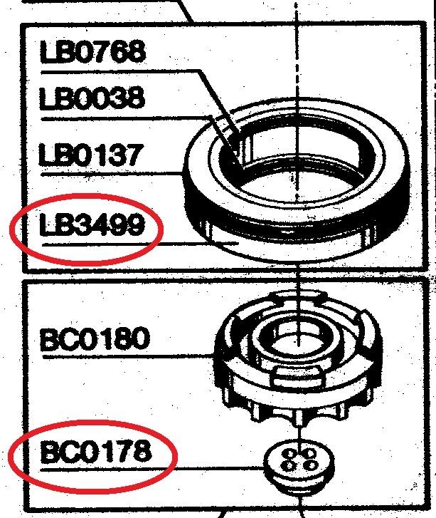 LB3499 seal + BC0178 top bumper