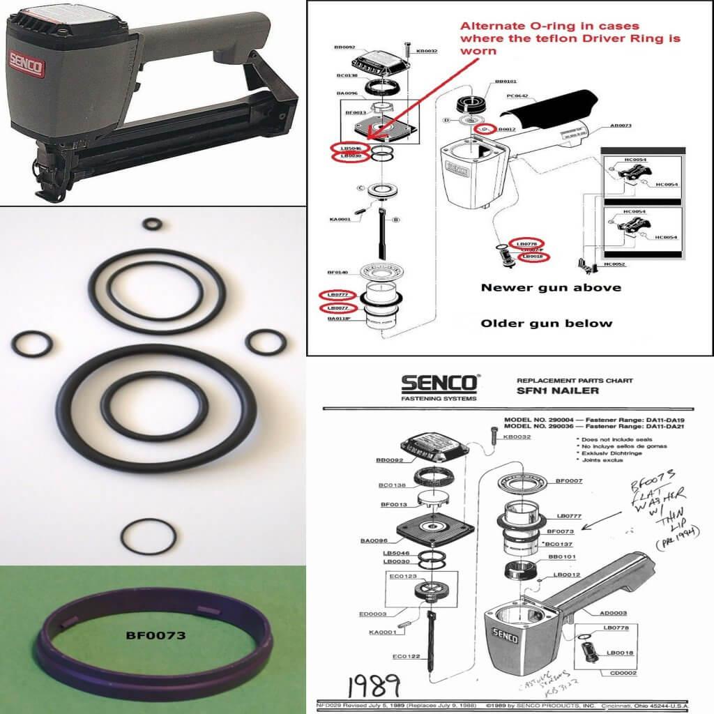 Senco SKS O-ring Repair kit + Part BF0073