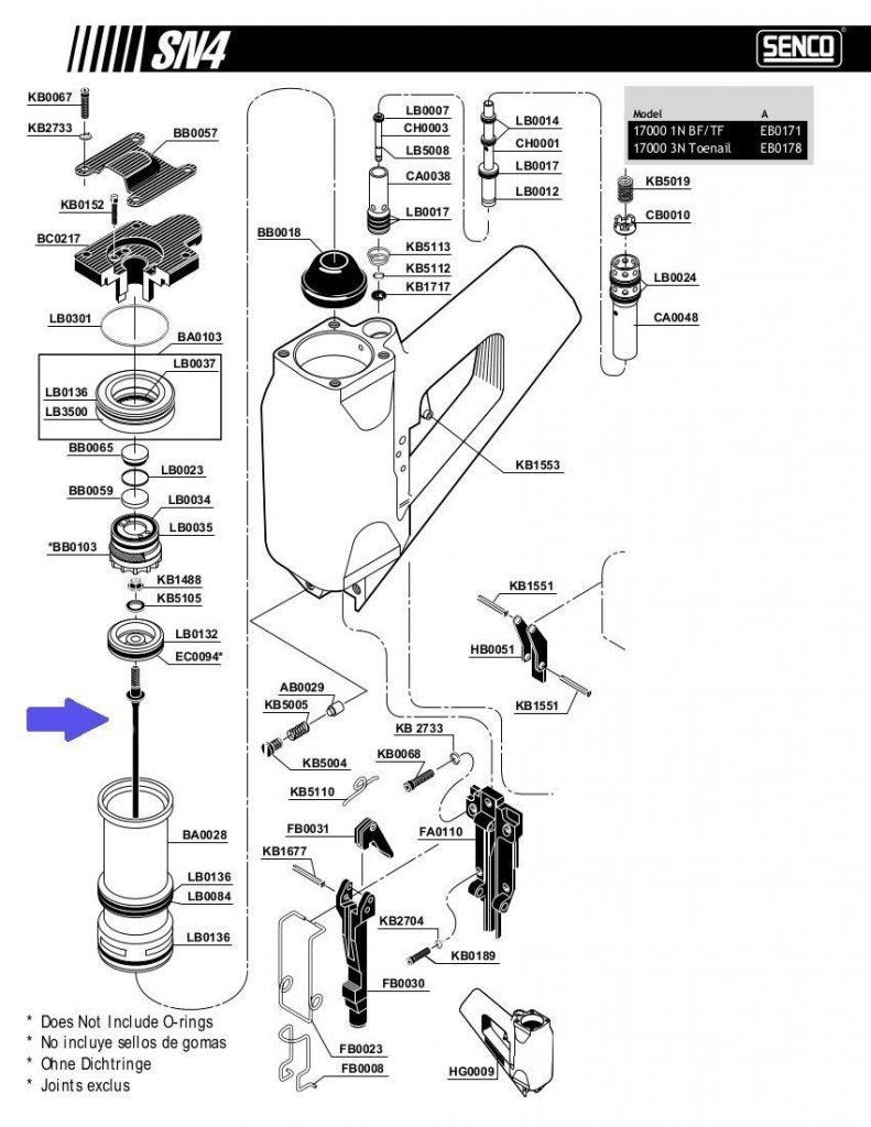 senco driver kit yk0027 for sn4 sn70